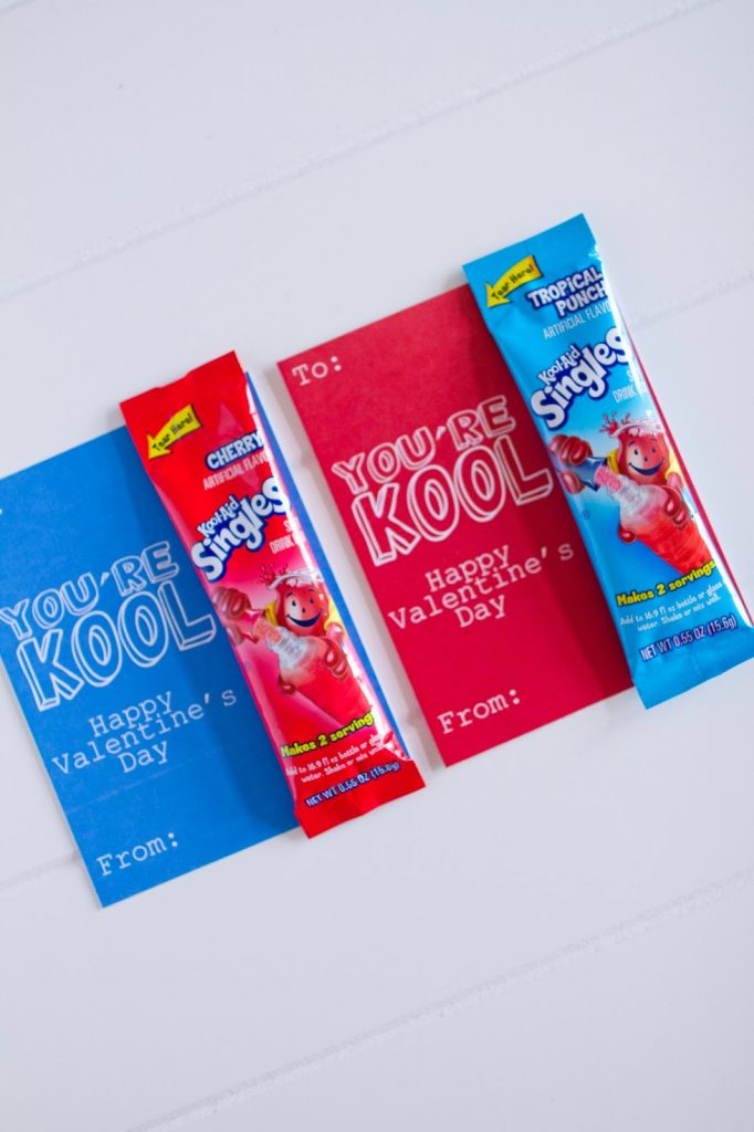 Kool-Aid Single Packs Valentines @michellepaigeblogs.com