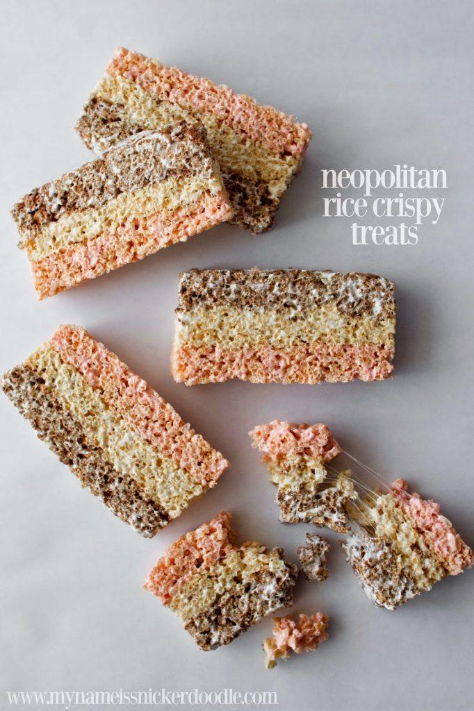 Neopolitan Rice Crisy Treats | My Name Is Snickerdoodle