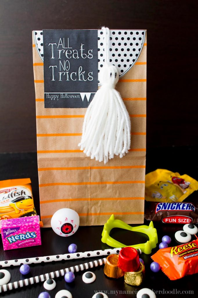 Halloween Treat Bags With A Free Printable Tag My Name Is Snickerdoodle