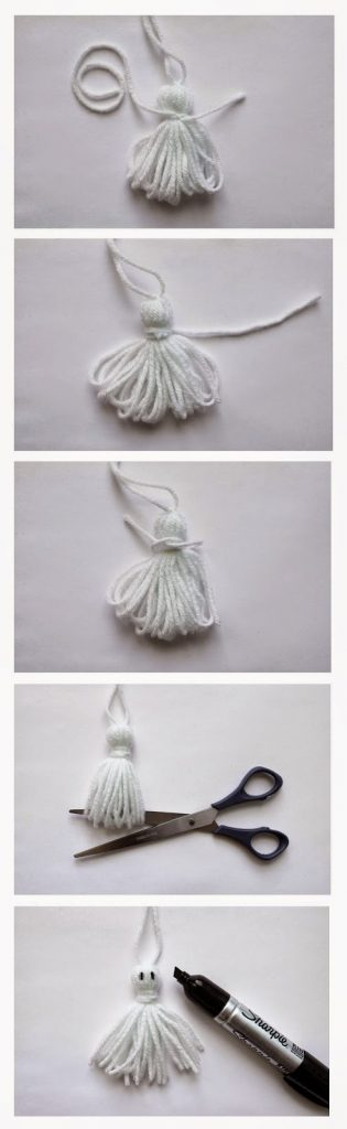 An easy tutorial on how to make spooktacular Ghost Tassels  |  My Name Is Snickerdoodle
