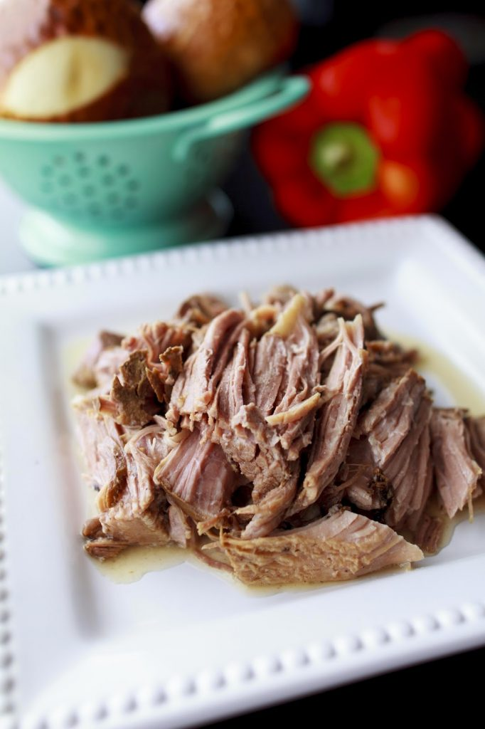 Here's and easy Pulled Pork recipe!  It's a great on it's own and also a good base for other dishes.  Plus it's all cooked in a crock pot!  |  My Name Is Snickerdoodle