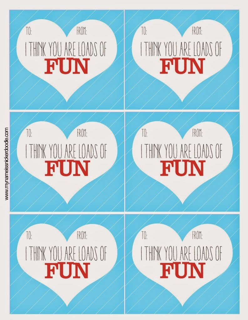 photograph regarding Free Valentine Printable named Tremendous Pleasurable Free of charge Valentines Printable - My Reputation Is Snickerdoodle