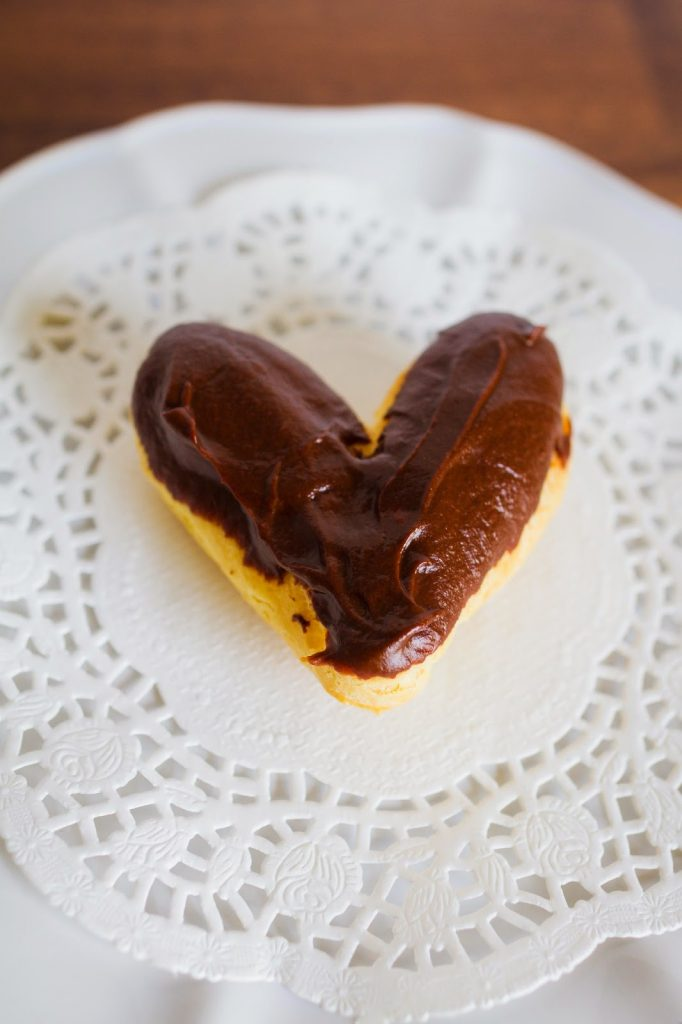 Share these easy Heart Shaped Chocolate Eclairs with your loved ones on Valentine's Day!  |  My Name Is Snickerdoodle