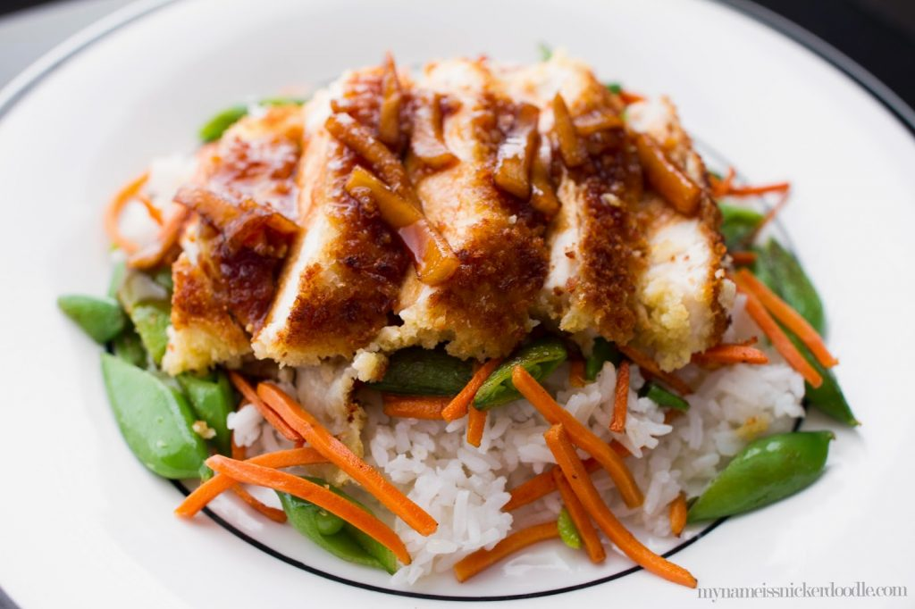 Fuji Chicken recipe.  Crispy chicken with a sween and slighly sour sauce.  |  My Name Is Snickerdoodle
