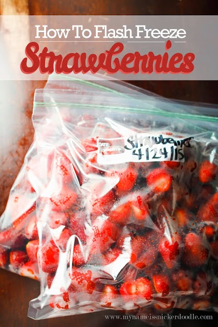How To Flash Freeze Strawberries