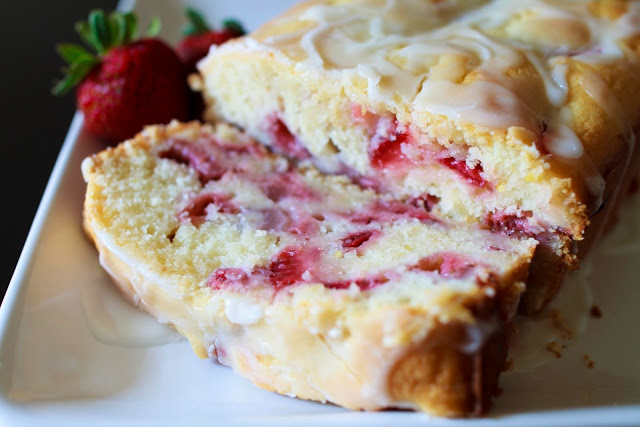 Strawberry Lemon Pound Cake