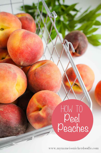 Use this super simple method to peel peaches perfectly! | mynameissnickerdoodle.com