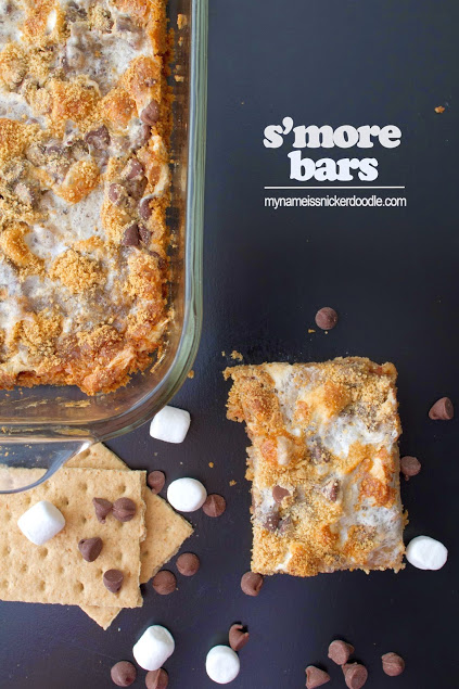 A yummy recipe for S'more Bars! | mynameissnickerdoodle.com