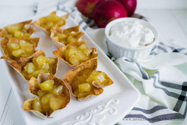 Skinny Mini Apple Pie recipe! Perfect for indulging without all the guilt! | My Name Is Snickerdoodle