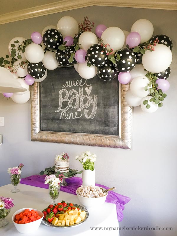 Baby Shower Classy Ballon Garland Decor My Name Is Snickerdoodle