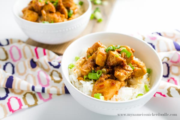 Chicken Teriyaki Bowls made in 20 minutes! The perfect recipe for those quick dinner nights! | mynameissnickerdoodle.com
