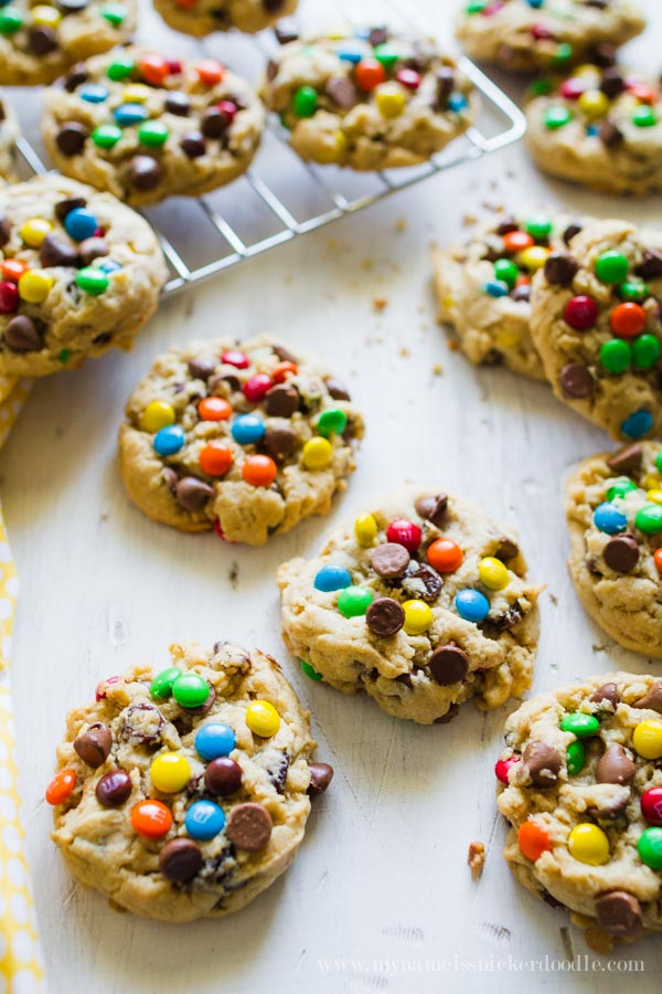 One of the best Monster Cookie Recipes!  They have it all!  |  mynameissnickerdoodle.com