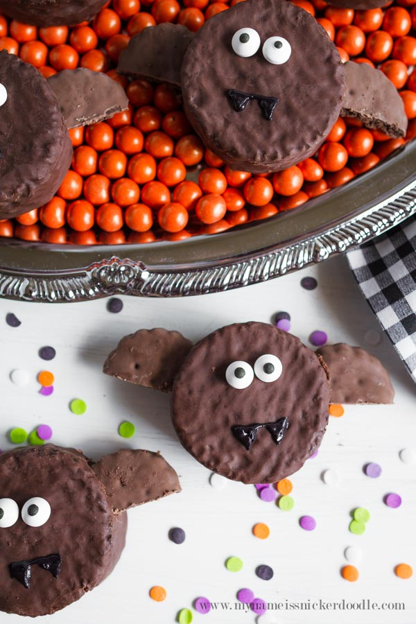 Halloween Bats made from Ding Dongs!  Perfectly easy and super cute!  |  mynameissnickerdoodle.com
