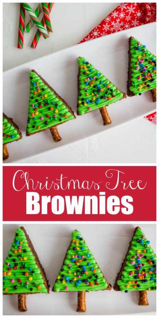 These are simply adorable!  Christmas Trees made out brownies!  Serve these for your next holiday party!  |  mynameissnickerdoodle.com