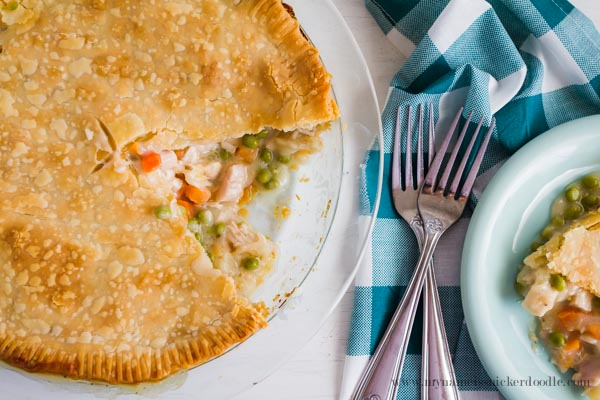 The best recipe for Chicken (or Turkey) Pot Pie! Savory and so comforting! | mynameissnickerdoodle.com