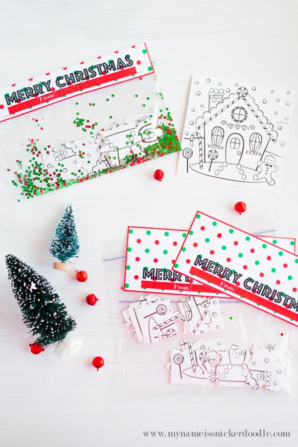 Cute little Merry Christmas treat topper that you can download and print for free! | mynameissnickerdoodle.com