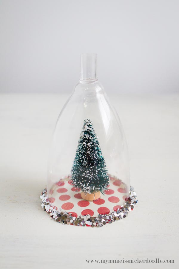 add another line of hot glue to the outside of the rim and sprinkle with glitter work in small sections to make it easier - Small Christmas Ornaments