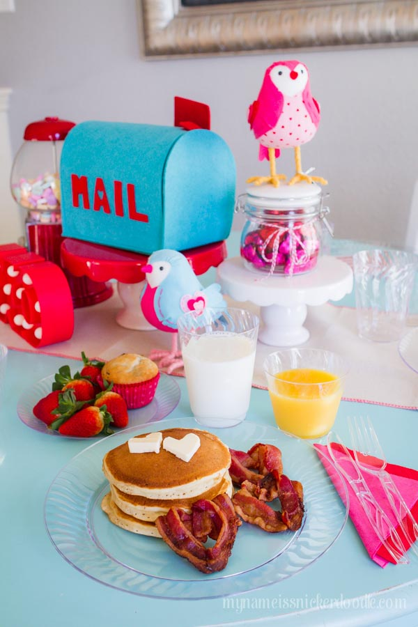 A fun Valentine's Day Tradition for your family. This Love Bug Breakfast is darling! | mynameissnickerdoodle.com