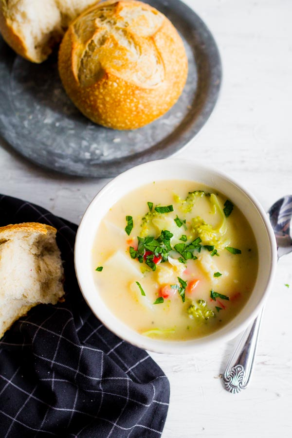 A delicious recipe for Garden Vegetable Chowder! Find it over at mynameissnickerdoodle.com