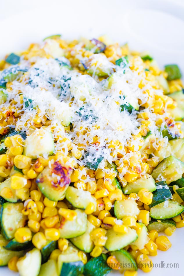 A wonderful spring and summer recipe for Sauteed Corn and Zucchini!  So yummy!  |  mynameissnickerdoodle.com